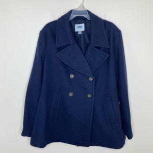 Old Navy Navy Blue Pea Coat Men's XXL
